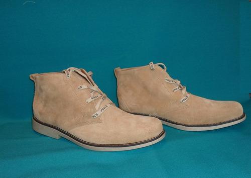 zapatos hombre botín  cuero volteado miel 41