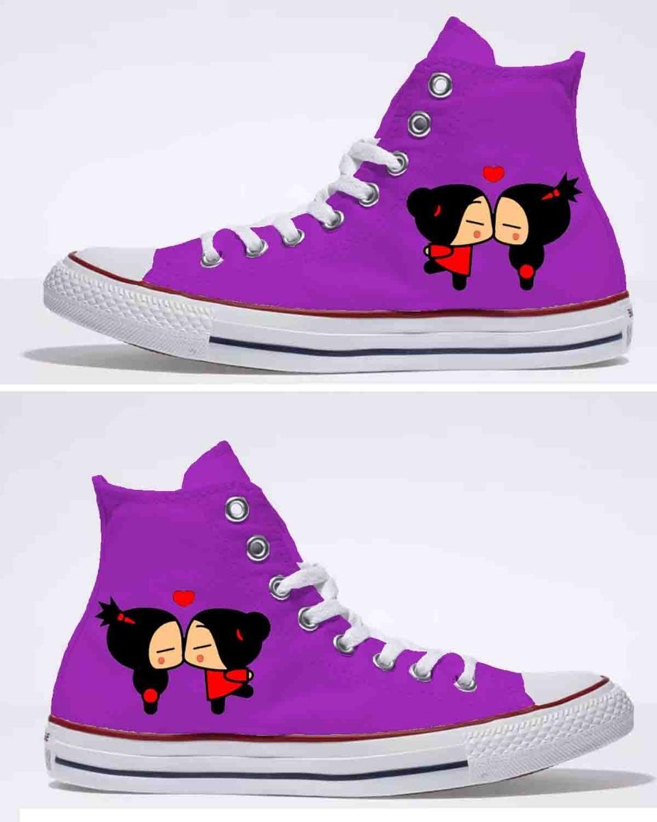 Pintados A Botin Beso Amor Mano Zapatos Pucca Hombre zVqGUSMp