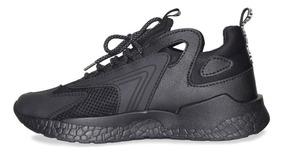 Tenis Zapatos Hombre Zapatilla Negro Deportivos L5A34Rj
