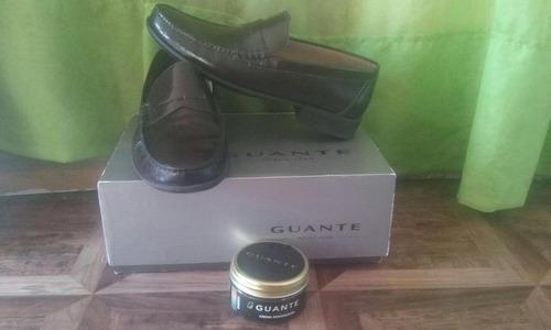 zapatos hombre guante nuevos con su crema para el cuidado