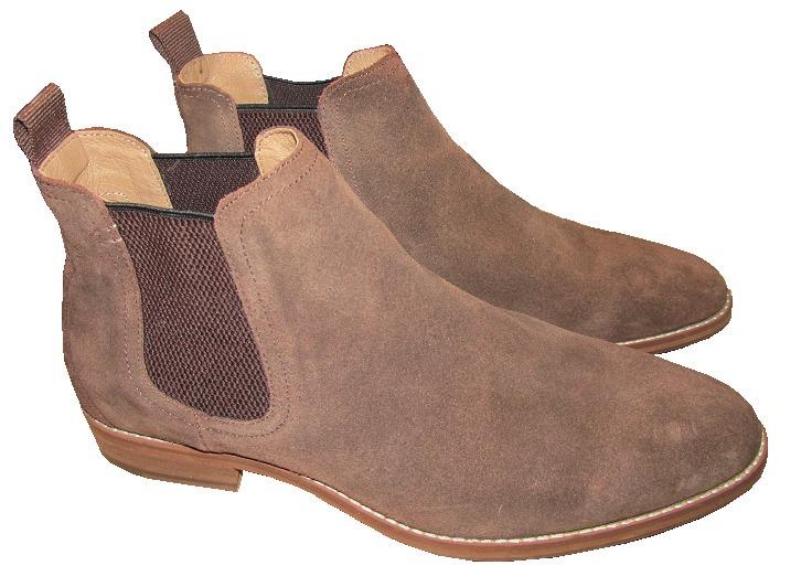 nuevo concepto ca502 f7900 Zapatos Hombre H&m Bota Cuero Gamuza Marrón 42/43 Env Gratis