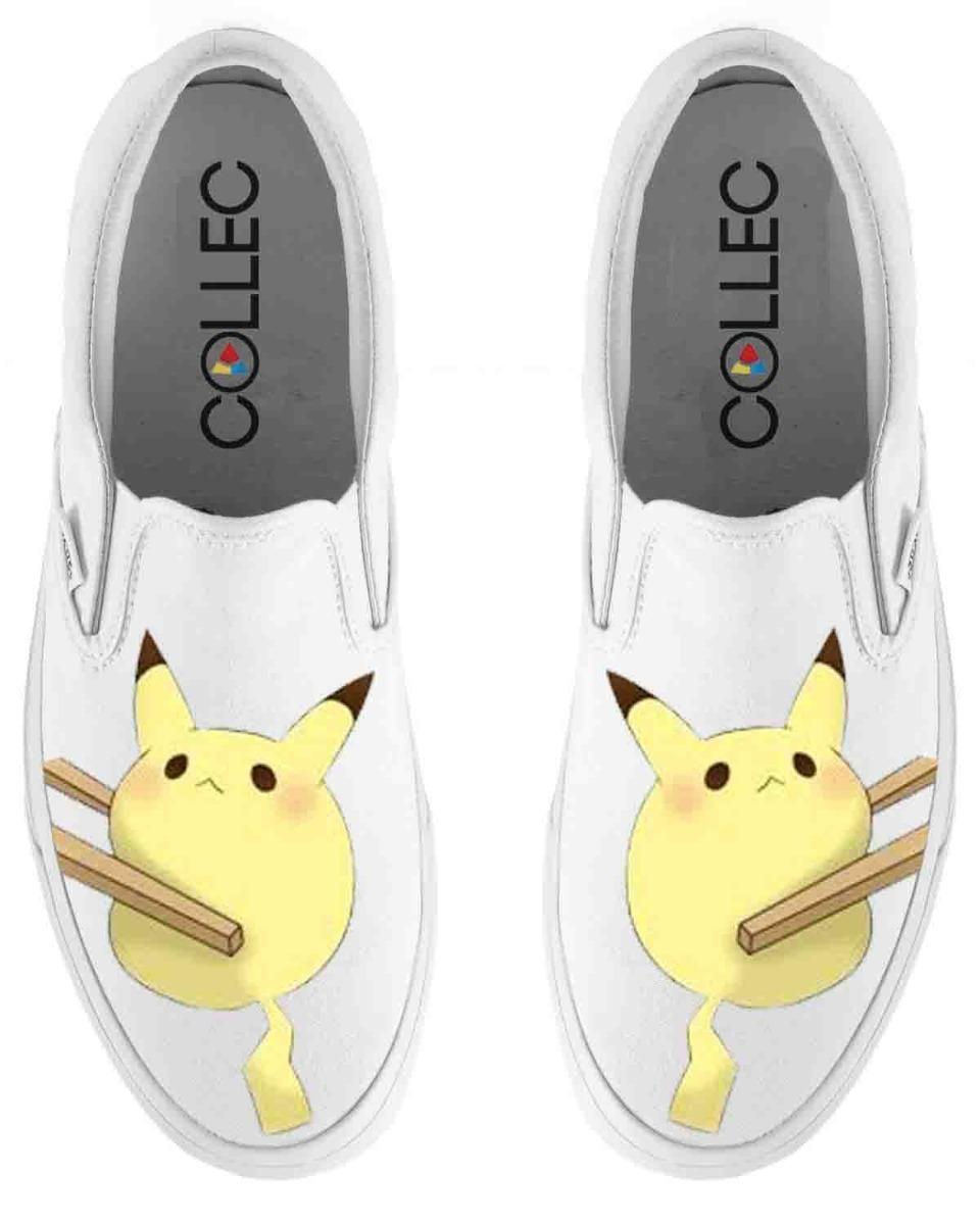 Pikachu Pintados Slip Sushi A Mano Zapatos Hombre On 2 dtQChsr