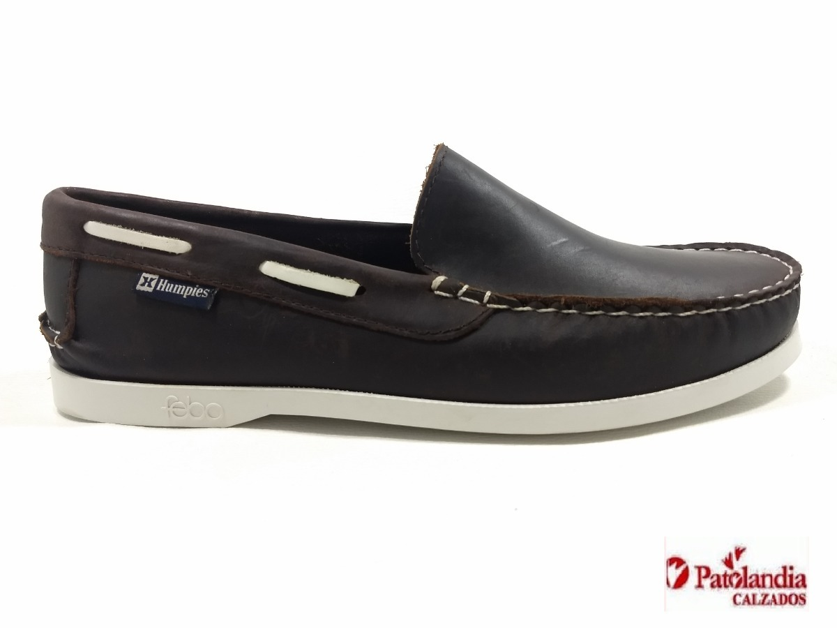 2824fd0b7c1 Zapatos Humpies Mocasines Nauticos Cuero Marrón N° 39 45 -   1.564 ...