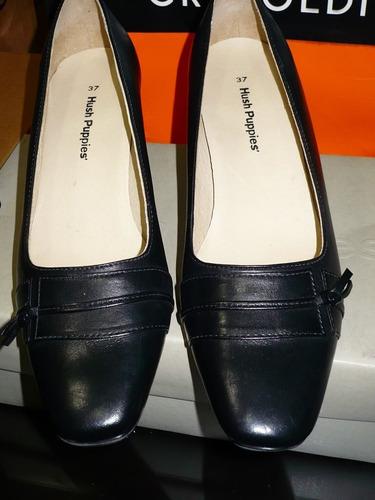zapatos hush puppies cuero negro nª37 modelo daphne