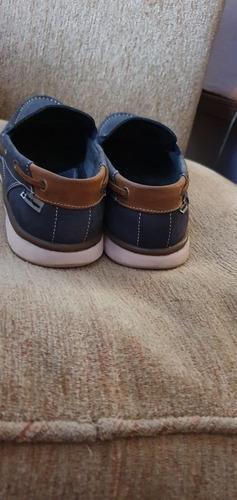 zapatos hush puppies  fly náuticos hombre . azul