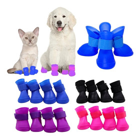 Zapatos Impermeables Lluvia Perro Mascota(4ud)talla Xxl