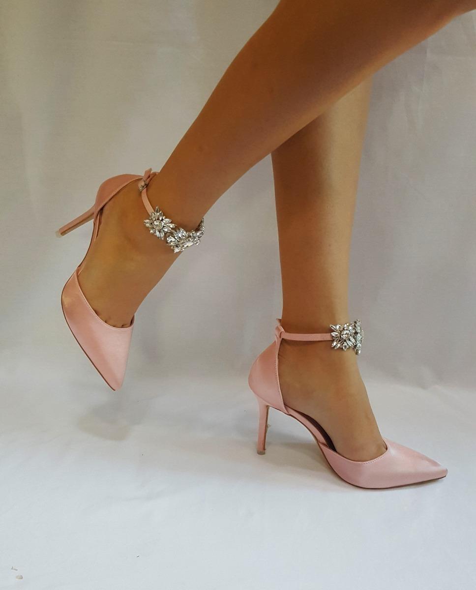 7ac79020 Zapatos Importadas De Fiesta Rosa Con Broche De Strass - $ 4.599,00 ...