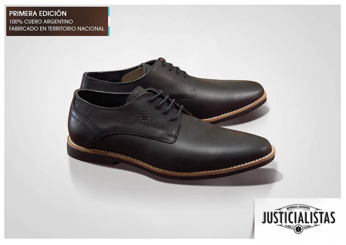 zapatos justicialistas 100 cuero mod descamisados perón