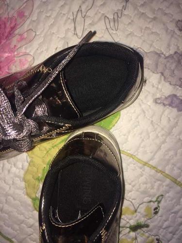 zapatos juveniles talla 35/36 de patente color cobre (5*d)