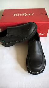 Zapatos Napa 36y37 Linea Kickers Niño Tallas Colegial Negro YfgvI7b6y