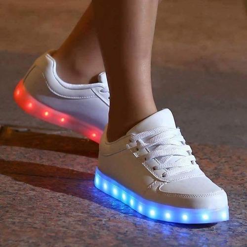 zapatos led con 8 colores de luces distintas