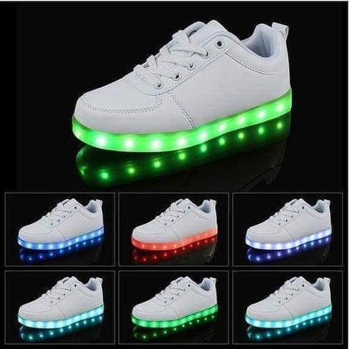 Zapatos Led Con 8 Colores De Luces Distintas