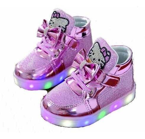 zapatos led de hello kitty niñas con luces