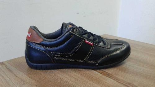 zapatos levis negros para hombre originales talla 42.5