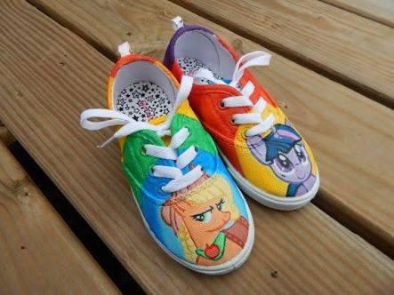 zapatos little pony applejack diseño hecho a mano marca coll