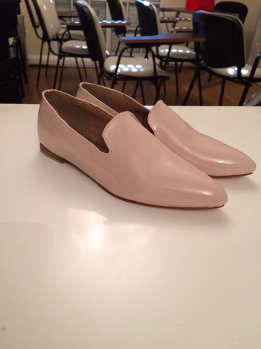 zapatos loafers slippers chatitas balerinas charol rosa