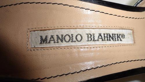 zapatos manolo blahnik 6.5mex usados originales unicos ofert
