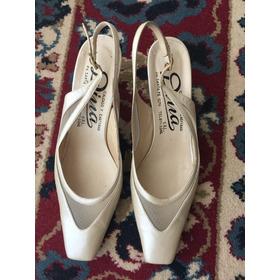 Zapatos Manteca Novia/quince/madrina - Un Uso