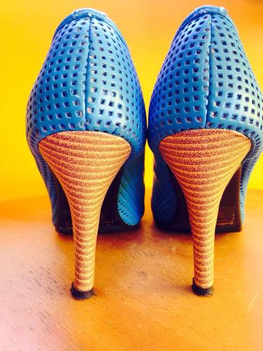 zapatos marca poloni azul 38.5