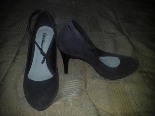 zapatos marrón claro taco 9