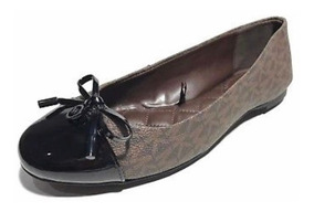 sports shoes 138f7 8d7da Zapatos Michael Kors Ballet Cafe Con Negro - Envio Incluido