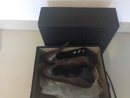 zapatos michel domit café oscuro (usados)