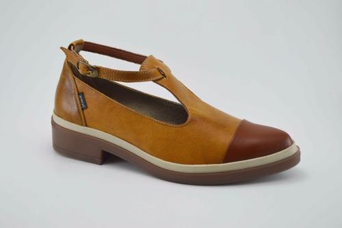 zapatos miel de cuero para mujer mafalda chic armori
