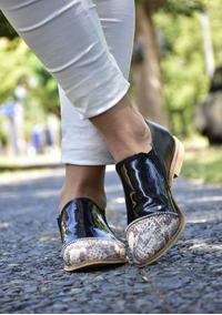 b5c15a5f09e Zapato Mujer De Reptil 2019 - Mocasines y Oxfords en Mercado Libre ...