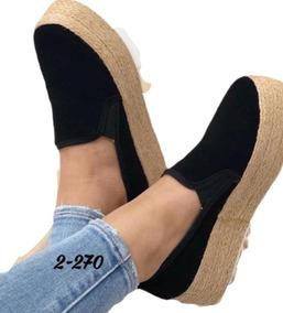 Zapatos Mocasín Yute Plataforma De Dama Nueva Colección 2019