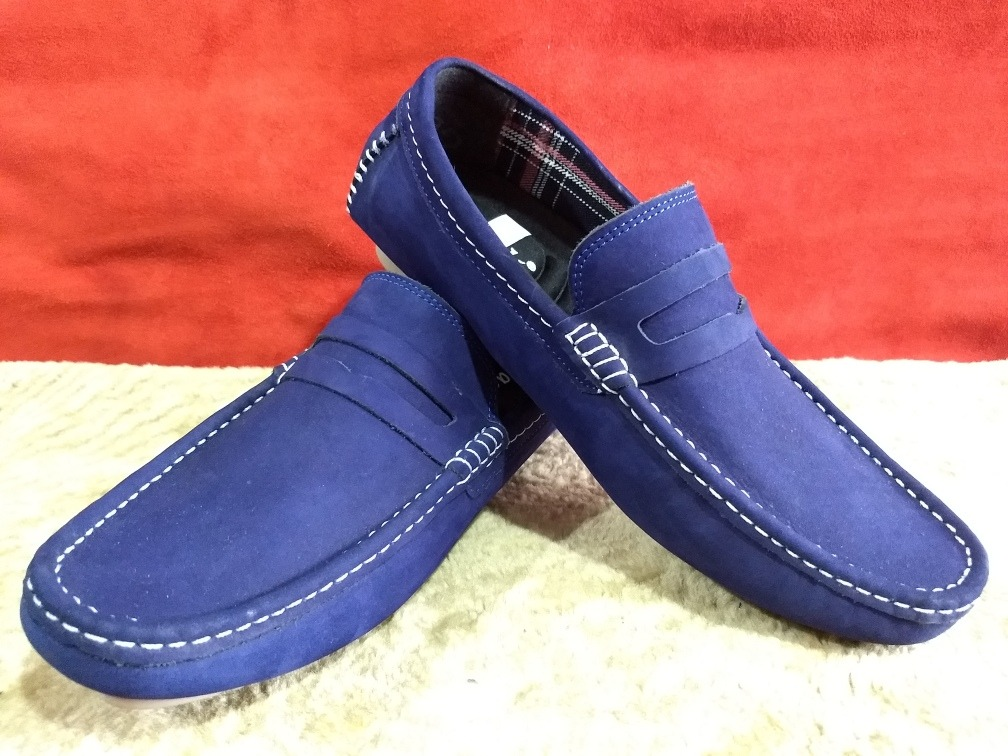fotos oficiales 1d4b9 c0c3a Zapatos Mocasines Azules