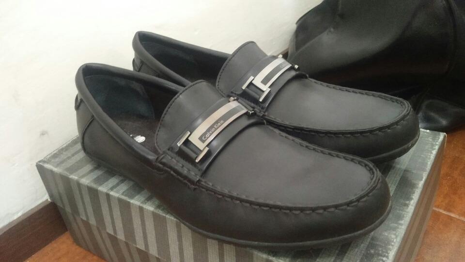 Calvin Zapatos Negros Klein Mocasines 29 Piel EIH9bYeWD2