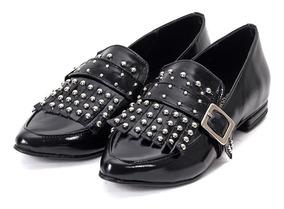 cfd9c589539d Zapatos Mocasines Chatitas Bajo Con Tachas Mujer 220/n Charo