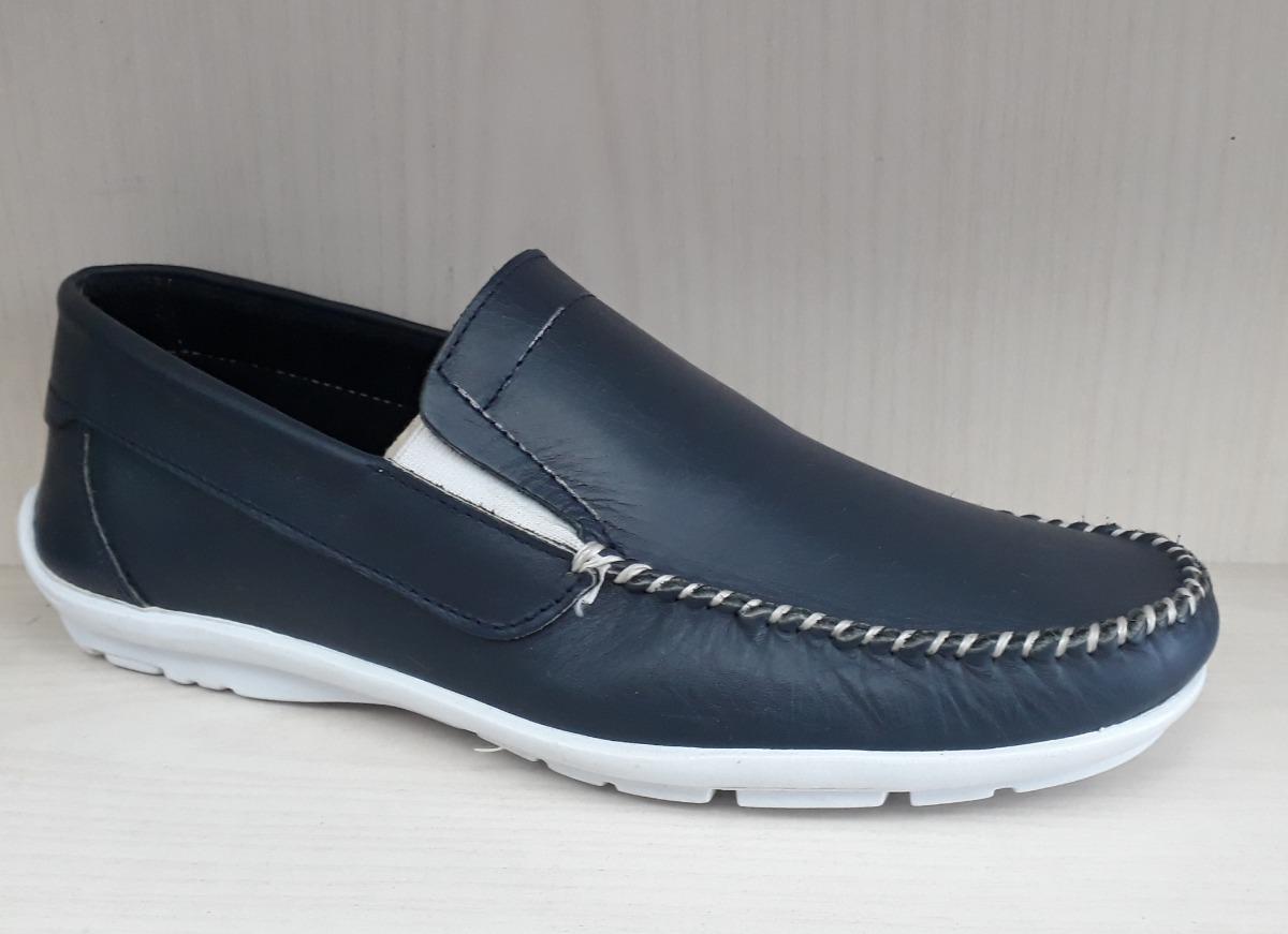 el más nuevo 83b16 2c651 Zapatos Mocasines Cuero - Hombre! Cómodos Y Livianos Oferta!