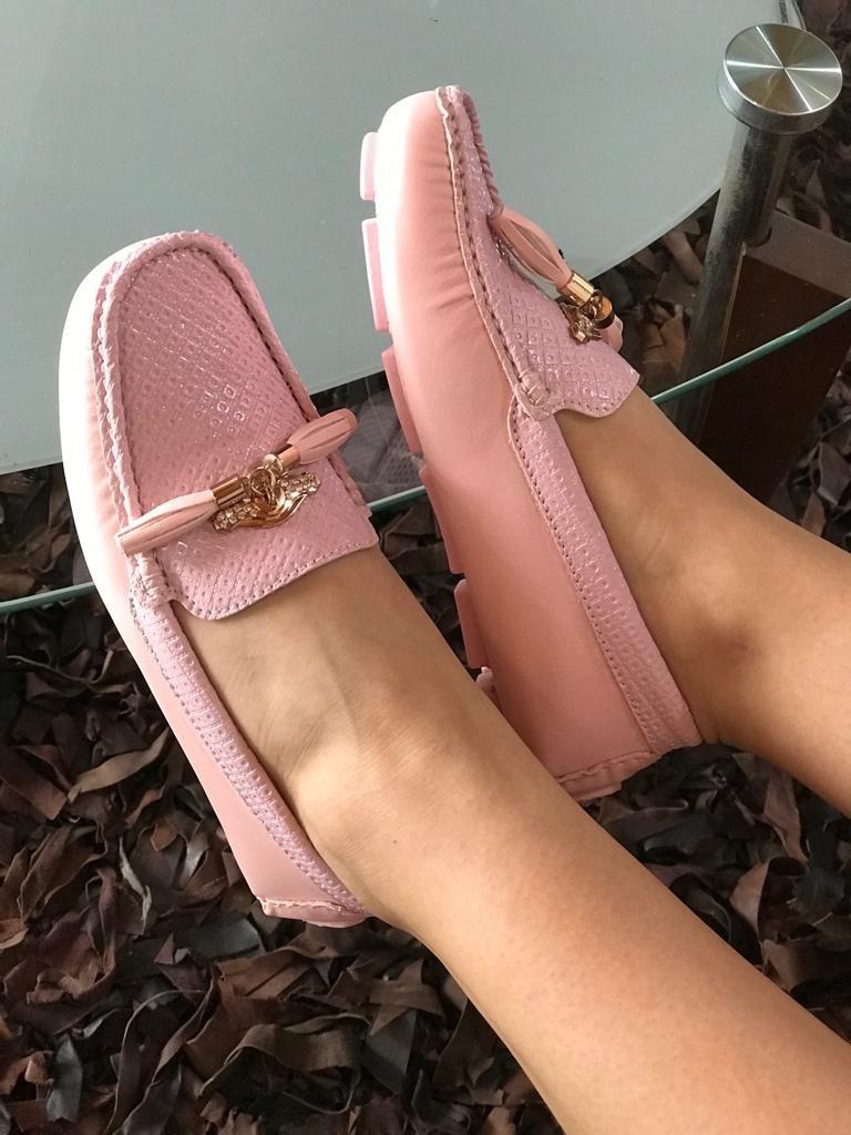 revisa 61c33 b5af4 Zapatos Mocasines Cuero Para Mujer Tallas 35 A La 40