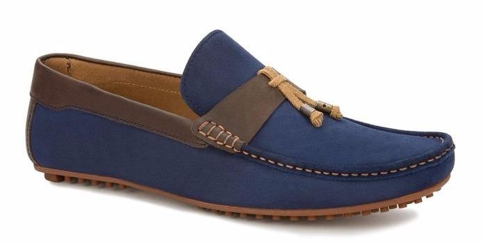 bb4691de67659 Zapatos Mocasines Gamuza Color Azul Marino Hombre Original ...