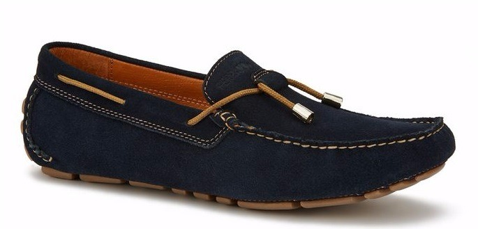 d50d04cad5b0c Zapatos Mocasines Hombre Gamuza Color Azul Marino Original ...