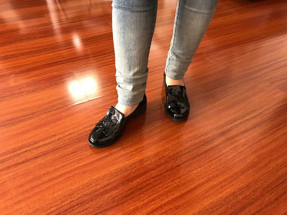 Pantalon Cómodos Falda Mujer Zapatos Mocasines Charol O Para N8vmnw0