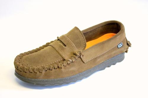 zapatos mocasines nauticos de gamuza cross forest 123 coco