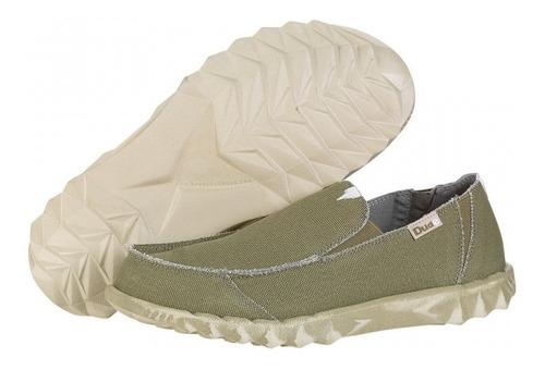 zapatos mocasines nauticos hombre hey dude farty khaki