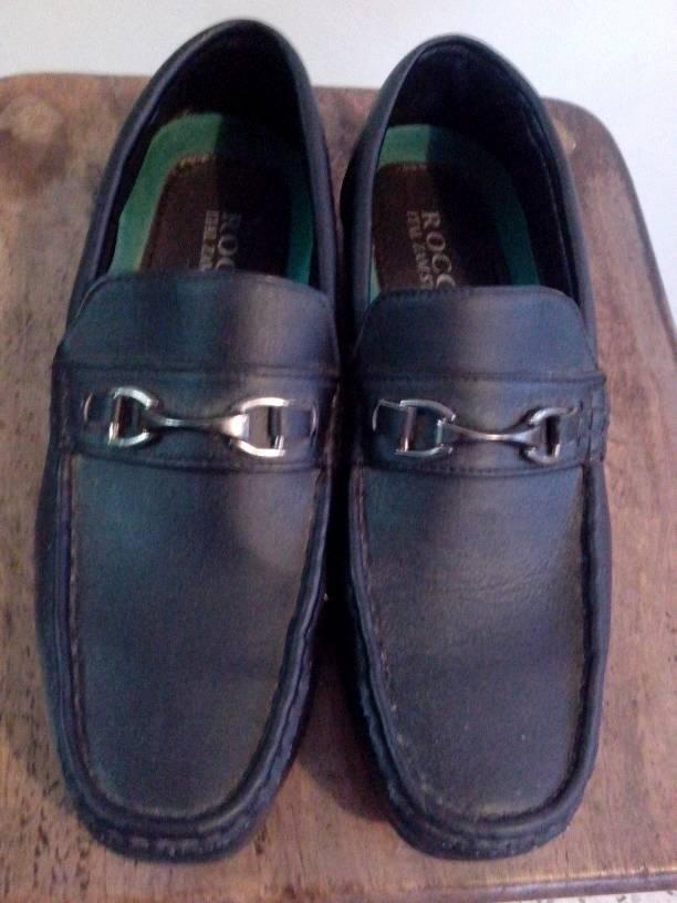 78a6a972 zapatos mocasines negros de caballero marca rocco talla 43. Cargando zoom.