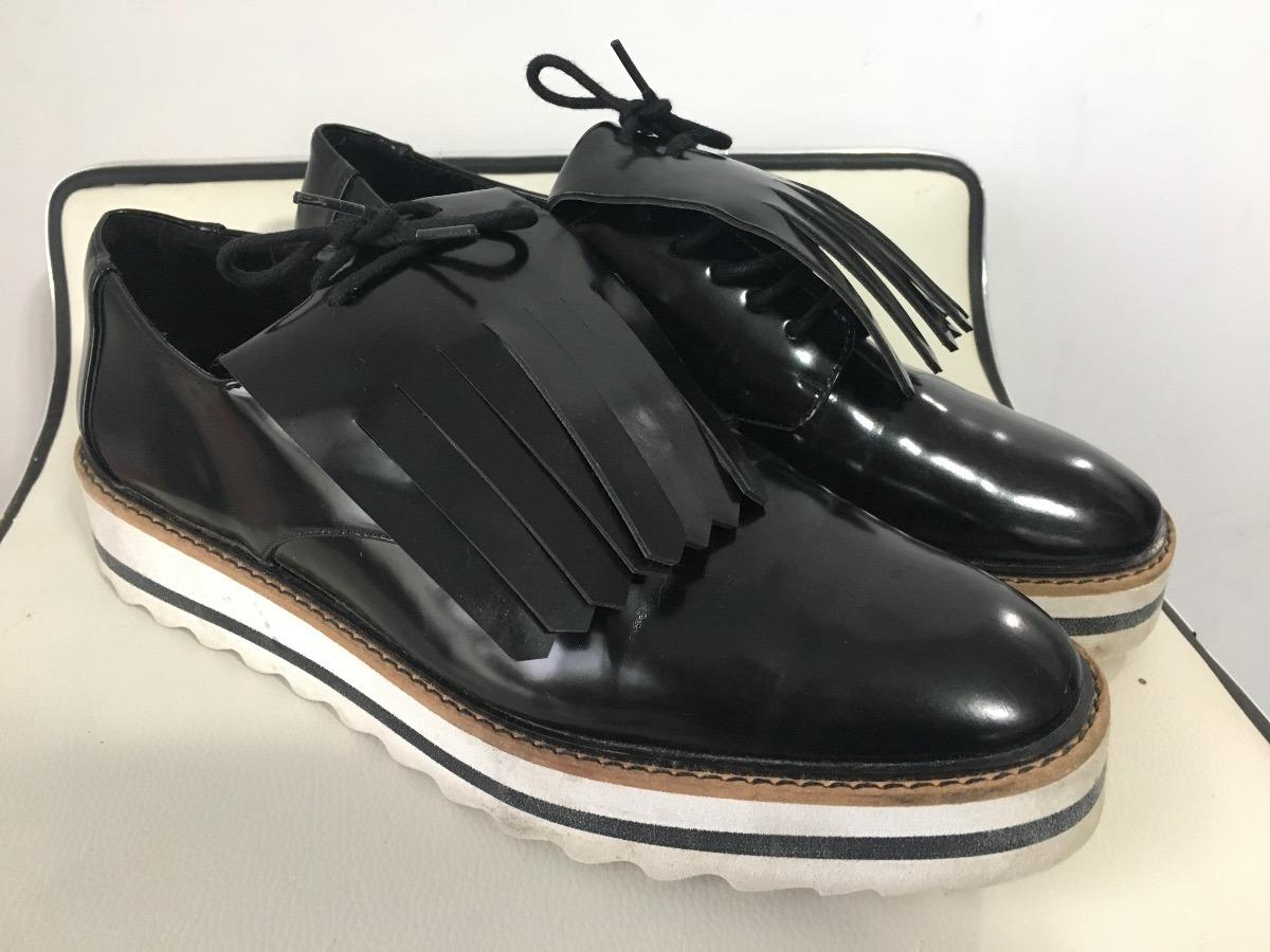 eafcc034 Zapatos Mocasines Oxford De Mujer Marca Zara Numero 40 - $ 850,00 en ...