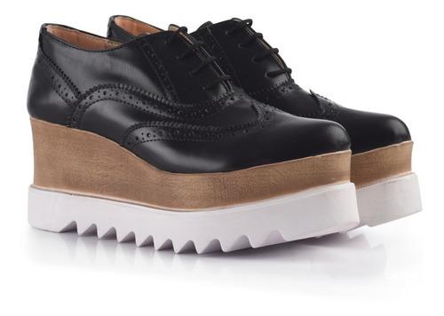 zapatos mocasines oxford plataforma estilo stella mccartney