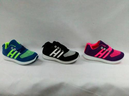 zapatos modelos yessi 28 al 32 solo en color morado con rosa