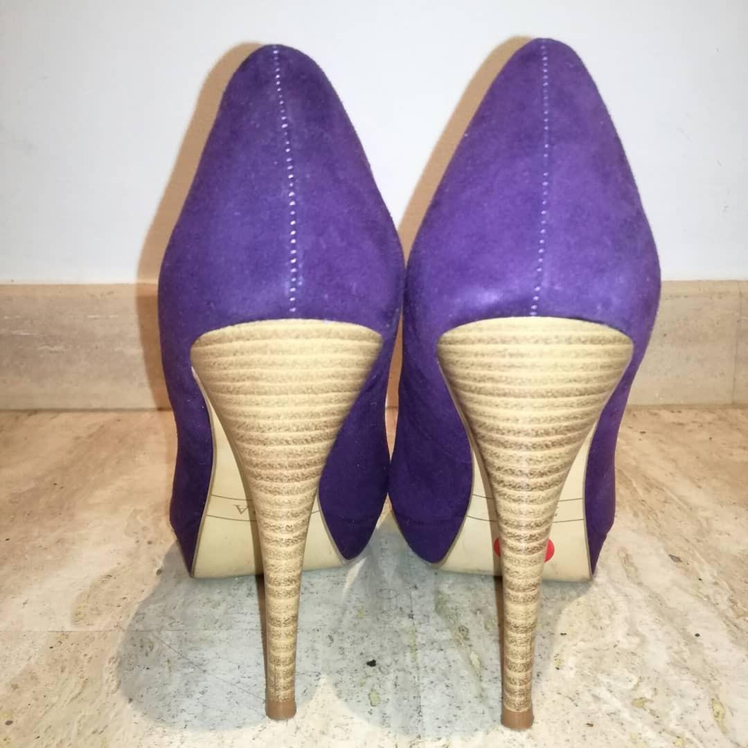 00 Bs 500 Alto 16 Zara En Libre Mercado Morados Zapatos De Tacon Xf88wq
