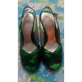 6d0c1bf5e4a Tacones Verde Esmeralda - Ropa