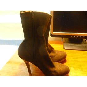 Bota Tobillera Tacon Mini Para Dama Zapatos, Usado en