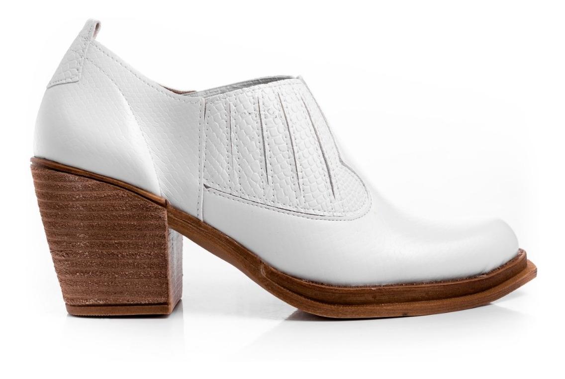 selección premium c02b1 c3844 Zapatos Mujer Botinetas Botas Zuecos Moda Primavera Verano 2019 Color Blanco
