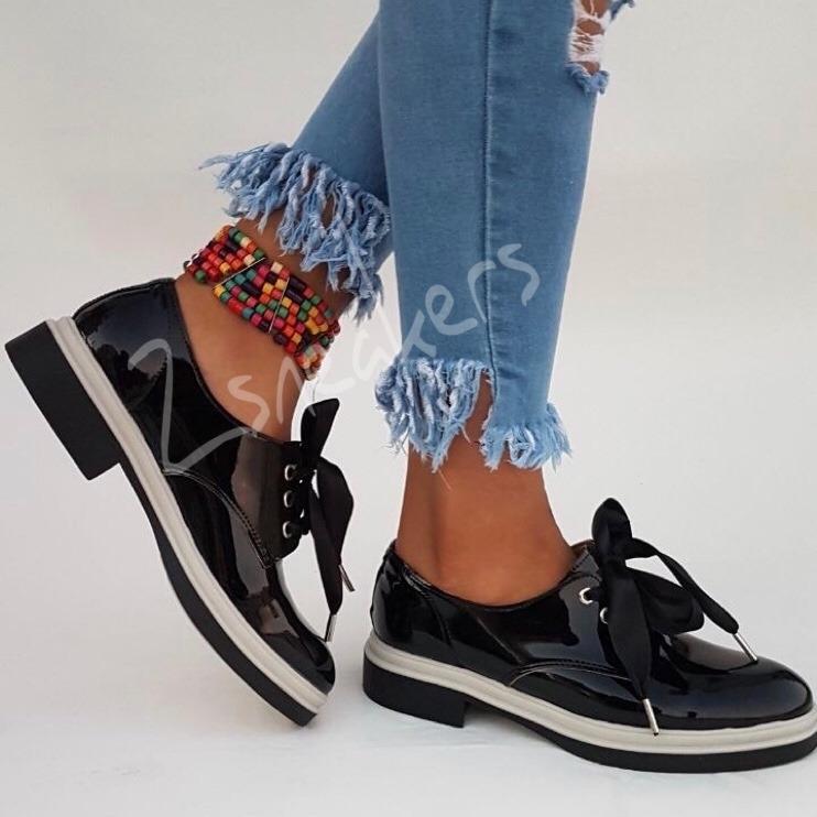 1fd9acd357 Zapatos Mujer Charol Bajos Mocasin Botas Otoño Invierno 2018 -   890 ...