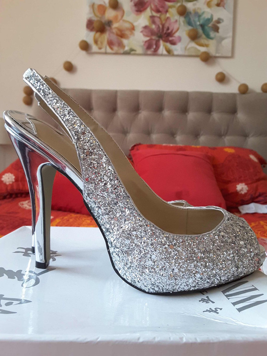 a142b724c32 Zapatos Mujer Fiesta Plateados -   9.990 en Mercado Libre