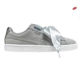 Original Zapatillas Puma Heart Zapatos Mujer Gris Suede Yf6Igyb7v